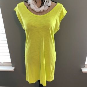 Express Beach Coverup in Lime Green